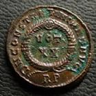 Photo numismatique  Monnaies Empire Romain CONSTANTIN I, CONSTANTINUS I, CONSTANTINO Follis, folles,  CONSTANTIN I, CONSTANTINUS I, follis Rome en 321, VOT XX / RP, 17-18 mm, 3,25 grms, RIC.232 SUPERBE+/SUPERBE