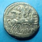 Photo numismatique  Monnaies République Romaine Junia 145 avant Jc Denier, denar, denario, denarius M.JUNIUS SILANUS, denier Rome en 145 avant JC, Rome casquée, les Dioscures, 18 mm, 3,79 grms, RSC Junia 8 TB à TTB
