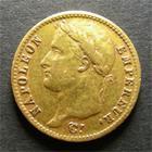 Photo numismatique  Monnaies Monnaies Française en or 1er Empire 20 Francs or NAPOLEON Ier 1810 A, 20 Francs or, Gadoury 1025 TTB
