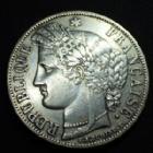 Photo numismatique  Monnaies Monnaies Françaises Défense nationale 5 Francs 5 Francs Cérès 1870 A Paris, 24,80 grms, G.743 TTB