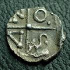 Monnaies GauloisesSequani, SequanesSEQUANES, SEQUANI, Obole à la croix du type du coin d'Artois, MASO Rare et bel exemplaire