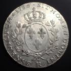Photo numismatique  Monnaies Monnaies Royales Louis XVI Ecu aux branches d'olivier LOUIS XVI, Ecu aux branches d'olivier 1785 R Orléans, 29,10 grms, G.356 TTB+