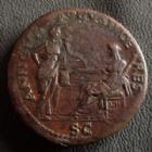 Photo numismatique  Monnaies Empire Romain NERON, NERO Sesterce, sesterz, sestertius, sestertio NERON, NERO, sesterce Rome en 64, Annona Augusti Ceres SC, 33 mm, 26,64 grms, RIC.137 TTB/TTB+