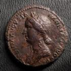 Photo numismatique  Monnaies Empire Romain SABINE, SABINA As, asse,  SABINE, SABINA, As Rome en 128-136, Concordia Aug, 10,92 grms, RIC.1037 TTB à SUPERBE, très beau style de portrait !!
