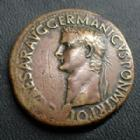 Photo numismatique  Monnaies Empire Romain CALIGULA Sesterce, sesterz, sestertius, sestertio CALIGULA, GAIUS, sesterce Rome en 37-38, ADLOCUT COH SC, 35 mm, 25,21 grms, RIC.32 TTB Rare!