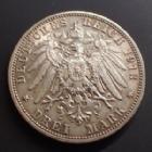 Photo numismatique  Monnaies Allemagne après 1871 Allemagne, Deutschland, Sachsen, Saxe, Sachs 3 Mark SACHSEN, SAXE, Friedrich August III, 3 mark 1913 E, J.140 TTB+