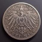 Photo numismatique  Monnaies Allemagne après 1871 Allemagne, Deutschland, Bayern, Baviere 2 mark, Zwei mark BAYERN, BAVIERE, Otto, 2 mark 1898 D, J.45 TTB