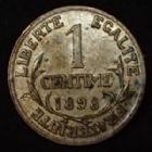 Photo numismatique  Monnaies Monnaies Françaises Troisième République 1 Centime 1 centime Daniel Dupuis 1898, G.90 TTB+