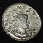 Photo numismatique  Monnaies Empire Romain GALLIEN, GALLIENUS, GALLIAN, GALLIANO Antoninien, antoninianus, antoniniane GALLIEN, GALLIENUS, antoninien  Trêves en 257-258, VICT GERMANICA, 2,90 grms, Coh.1062 Var. TTB+