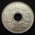Photo numismatique  Monnaies Monnaies Françaises Troisième République 10 centimes Lindauer 10 centimes Lindauer 1936, Gad.286 Quasi FDC rare dans cet état !