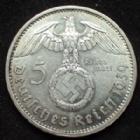 Photo numismatique  Monnaies Allemagne après 1871 allemagne, deutschland, germany, dritte reich, 3 em reich 5 Mark 5 Mark Hindenburg 1939 A, 3e reich, dritte reich, J.367 TTB+