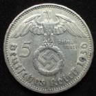Photo numismatique  Monnaies Allemagne après 1871 allemagne, deutschland, germany, dritte reich, 3 em reich 5 Mark 5 Mark Hindenburg 1936 G, 3e Reich, Dritte Reich, J.367 TTB+