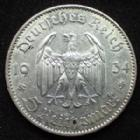 Photo numismatique  Monnaies Allemagne après 1871 allemagne, deutschland, germany, dritte reich, 3 em reich 5 Mark Kirche 5 mark Kirche 1934 F, 3e Reich, Dritte Reich, J.357 TTB