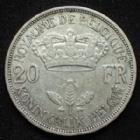 Photo numismatique  Monnaies Monnaies étrangères Belgique, Belgie, Belgien 20 Francs Belgique, Belgien, Belgie, Leopold III, 20 francs 1934, KM.105 TB à TTB
