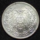Photo numismatique  Monnaies Allemagne après 1871 Allemagne, Deutschland, Empire, Kaisereich 1 Mark 1/2 Mark 1917 D, Kaiserreich, Empire Allemand, J.16 SUPERBE à FDC