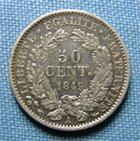 Photo numismatique  Monnaies Monnaies Françaises Deuxième République 50 Centimes IIème République, 50 centimes 1849 A, Gadoury 411 SUPERBE Rare ! 2655 exemplaires!!