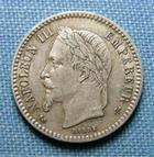 Photo numismatique  Monnaies Monnaies Françaises Second Empire 50 Centimes NAPOLEON III 50 Centimes 1864 K Bordeaux, Gadoury 417 TTB