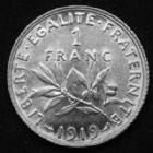 Photo numismatique  Monnaies Monnaies Françaises Troisième République 1 Franc 1 Franc semeuse de Roty 1919, Gad.467 SPL
