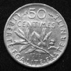 Photo numismatique  Monnaies Monnaies Françaises Troisième République 50 Centimes 50 centimes semeuse de Roty 1917, Gad.420 petite rayures à l'avers sinon Presque SUPERBE