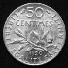 Photo numismatique  Monnaies Monnaies Françaises Troisième République 50 Centimes 50 centimes semeuse de Roty 1920, Gad.420 SPL