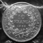 Photo numismatique  Monnaies Monnaies Françaises Cinquième république 10 francs Hercule 10 francs Hercule 1969, Gad.813 FDC sous pochette plastique