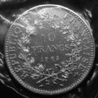 Photo numismatique  Monnaies Monnaies Françaises Cinquième république 10 francs Hercule 10 francs Hercule 1965 sans accent, argent 900°/°° 25 grms, Gad.813 FDC sous pochette plastique