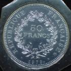 Photo numismatique  Monnaies Monnaies Françaises Cinquième république 50 francs Hercule 50 francs Hercule 1979, Gad.882 FDC sous le plastique de la boite d'origine
