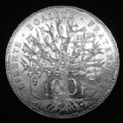 Photo numismatique  Monnaies Monnaies Françaises Cinquième république 100 francs Panthéon 100 francs Panthéon 1989, Gad.898 légères traces sinon SPL (superbe+)