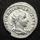 Photo numismatique  Monnaies Empire Romain GORDIEN III, GORDIAN III, GORDIANUS III, GORDIANO III Antoninien, antoninianus, antoniniane GORDIEN III, GORDIANUS III, antoninien Rome en 243, Martem Propugnatorem, 4,80 grms, RIC.147 TTB+