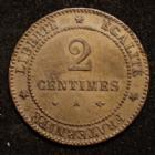 Photo numismatique  Monnaies Monnaies Françaises Troisième République 2 Centimes 2 centimes Cérès 1878 petit A Paris, Gad.105 petits coups tranche sinon SUPERBE