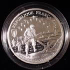 Photo numismatique  Monnaies Monnaies Françaises 5e République monnaies commémoratives 1 franc Liberté, 6 juin 1944 Monnaie commémorative, 1 franc Liberté 1993, 6 Juin 1944, UTAH, OMAHA, GOLD, JUNO, SWORD, argent 900°/°°°, 22,2g, 37 mm, BE