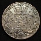 Photo numismatique  Monnaies Monnaies étrangères Belgique, Belgie, Belgien 5 Francs Belgique, Belgien, Belgie, Léopold II 5 francs 1870, KM.24 TTB