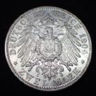 Photo numismatique  Monnaies Monnaies étrangères Allemagne Baden 2 mark, Zwei mark 2 Mark 1904 G, Baden, Friedrich I, J.32 TTB+/SUPERBE