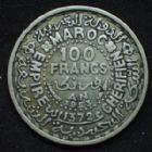Photo numismatique  Monnaies Anciennes colonies Françaises Maroc 100 Francs Maroc, Morocco, 100 francs 1953, argent 720°/°°°, LEC.288 TTB