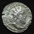 Photo numismatique  Monnaies Empire Romain POSTUME, POSTUMUS, POSTUMO Antoninien, antoninianus, antoniniane POSTUME, POSTUMUS, antoninien Trèves en 261, FIDES MILITUM, 3,05 grms, RIC.59 TB+/TTB+