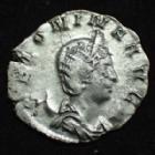 Photo numismatique  Monnaies Empire Romain SALONINE, SALONINA, SALONIA, SALONINIA Antoninien, antoninianus, antoniniane SALONINE, SALONINA, antoninien Trèves en 256-257, VENUS VICTRIX, 1,99 grms, RIC/. Goebl.904c Presque TTB