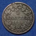 Photo numismatique  Monnaies Allemagne avant 1871 Allemagne, Deutschland, Bayern, Baviere 1 Kreuzer Bayern, bavière, Maximilien Joseph II, 1 kreuzer 1859, AKS.156 TB+/TTB
