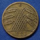 Photo numismatique  Monnaies Allemagne après 1871 Allemagne, Deutschland, Germany 10 Rentenpfennig 10 Rentenpfennig 1923 G, J.309 TTB