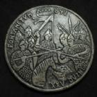 Photo numismatique  Monnaies Médailles Rois Carolingien Médaille en étain Rois Carolingien, Charles le Chauve, médaille en étain de 85 mm, par J.C Vetter, Fontanetum XXV Juin anno 841, 144,25 grms SPL