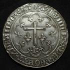 Photo numismatique  Monnaies Médailles Médaille reproduction de monnaies ancienne Médaille en bronze argenté HENRI V, médaille reproduction du Salut d'or, bronze argenté, 1971 N°XVII/C, 57 mm, 87,03 grms SPL