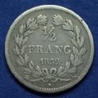 Photo numismatique  Monnaies Monnaies Françaises Louis Philippe 1/2 Franc LOUIS PHILIPPE, 1/2 franc 1832 K Bordeaux, Gad.408 TB/TB+