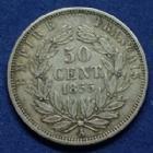 Photo numismatique  Monnaies Monnaies Françaises Second Empire  NAPOLEON III, 50 centimes 1855 A Paris, Gad.414 TTB
