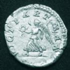 Photo numismatique  Monnaies Empire Romain CARACALLA Denier, denar, denario, denarius CARACALLA, denier Rome en 201-206, Vict Part Max, 3,14 grms, RIC.1446 SUPERBE/P.SUP Rare!