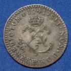 Photo numismatique  Monnaies Monnaies Royales Louis XV Double sol de billon LOUIS XV, double sol (2 sous) 1741 BB Strasbourg, 2,17 grms, Gad.281 TTB/TTB+