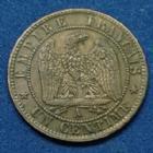 Photo numismatique  Monnaies Monnaies Françaises Second Empire 1 Centime NAPOLEON III, 1 centime 1861 A, Gad.87 TTB+/SUPERBE
