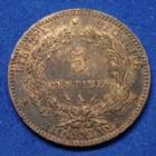Photo numismatique  Monnaies Monnaies Françaises Troisième République 5 Centimes 5 Centimes Cérès 1882 A, Gad.157a SUPERBE