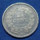 Photo numismatique  Monnaies Monnaies Françaises Louis Philippe 25 Centimes LOUIS PHILIPPE, 25 centimes 1845 B Rouen, Gad.357 SUPERBE