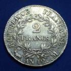 Photo numismatique  Monnaies Monnaies Françaises 1er Empire 2 Francs NAPOLEON I, 2 francs AN 12 M Toulouse, Gad.495 presque TTB/TTB+