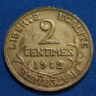 Photo numismatique  Monnaies Monnaies Françaises Troisième République 2 Centimes 2 Centimes Daniel Dupuis 1912, Gad.107 SPL