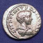 Photo numismatique  Monnaies Empire Romain GETA Denier, denar, denario, denarius GETA, Denier Rome en 198, FELICITAS TEMPOR, 3,50 grms, RIC.2 TTB